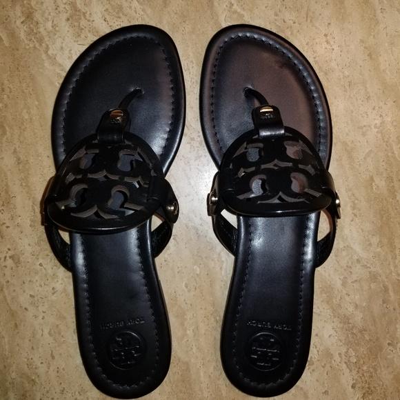 437c6157997 TORY BURCH Miller Sandal 7 Black Leather
